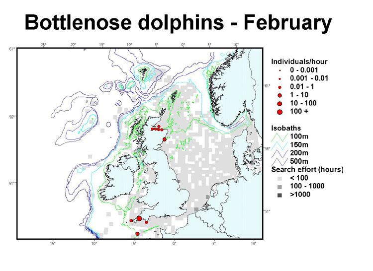 Map Of Uk 1000.Sea Watch Foundation Bottlenose Dolphin Distribution Maps