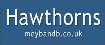 Hawthorns logo. Copyright: Hawthorns B&B