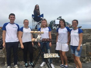 Sea Watch volunteers organizing fundraising events in New Quay/ Sea Watch Foundation.