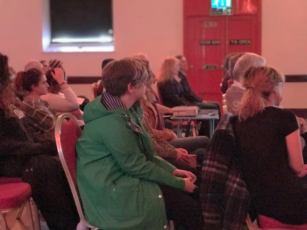 Attendees enjoying live presentations. Ellie Richardson/ Sea Watch Foundation