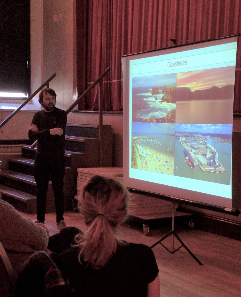James Waggitt gives his presentation. Ellie Richardson/ Sea Watch Foundation
