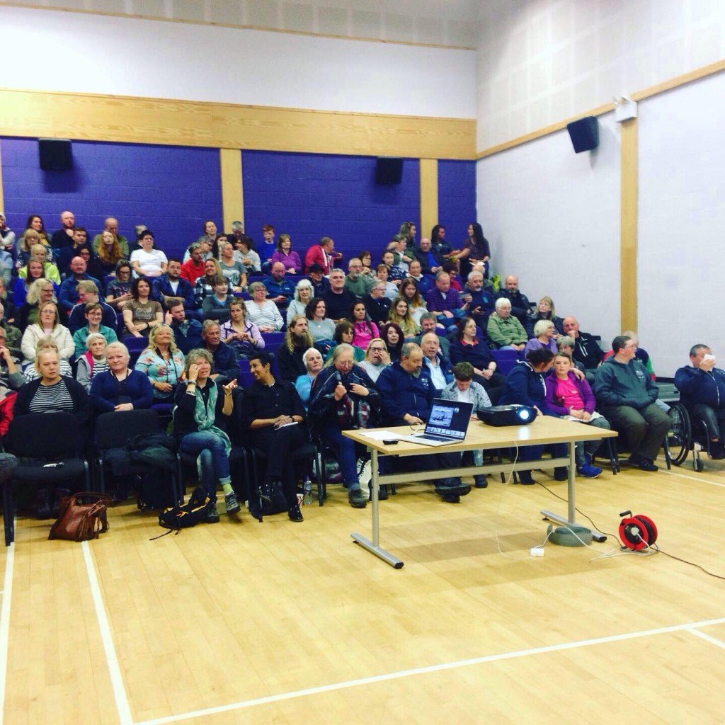 Audience at the evening of orca talks in Wick. Copyright: C.G. Bertulli / Sea Watch Foundation