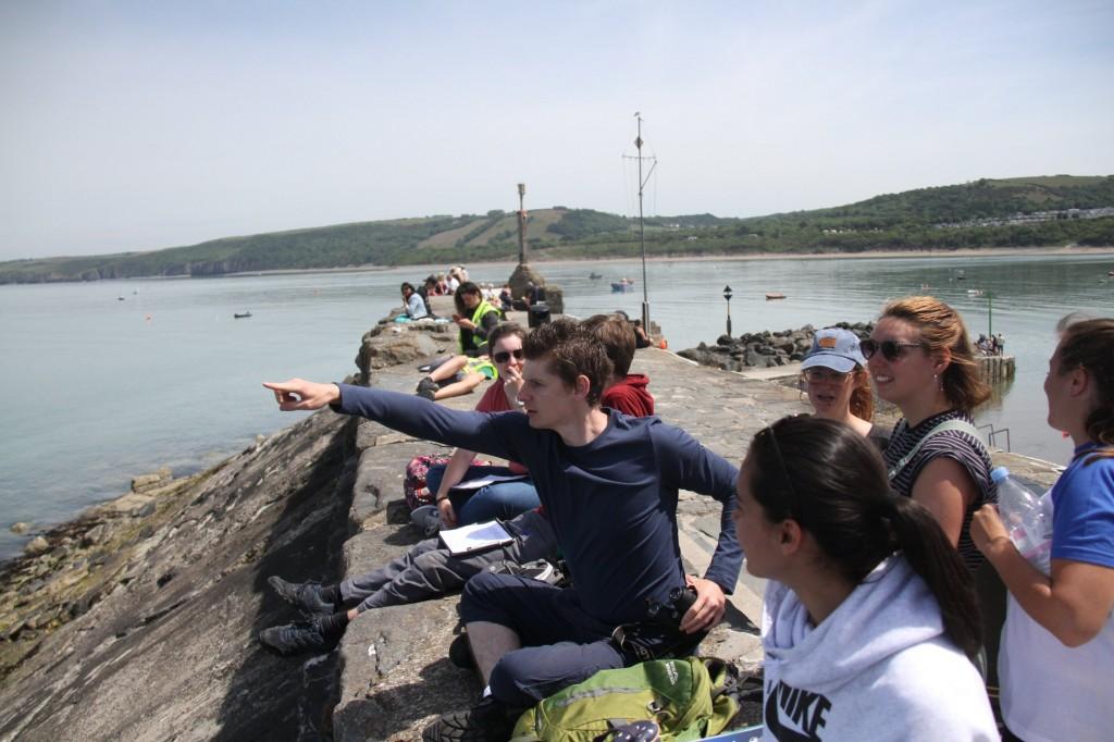 Course participants on a landwatch