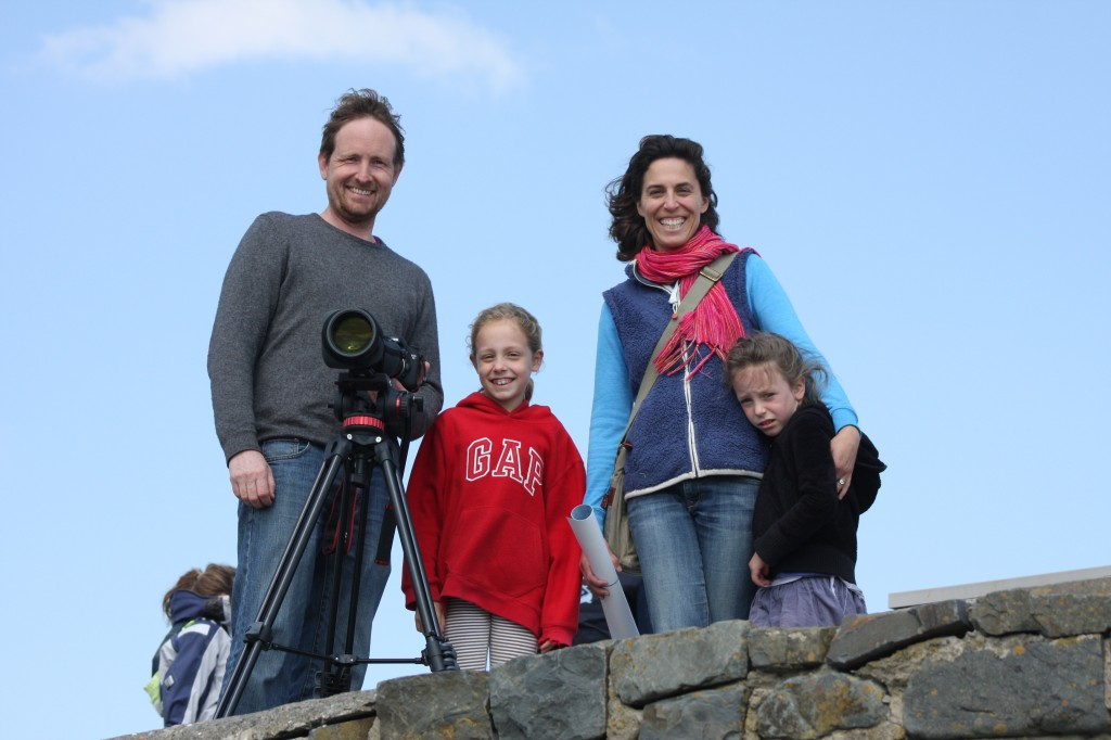 Emily & her family on New Quay Pier