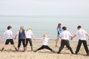 Stretching as much as possible to reach that Blue Whale!