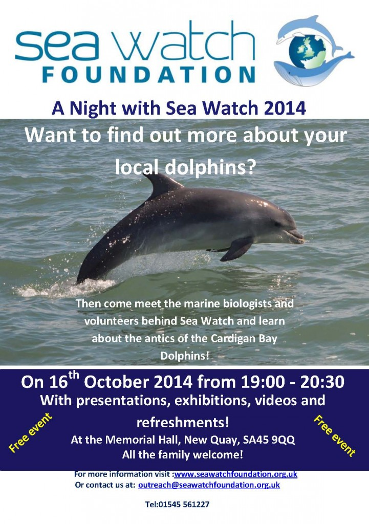 A night with sea watch 2014 flyer white