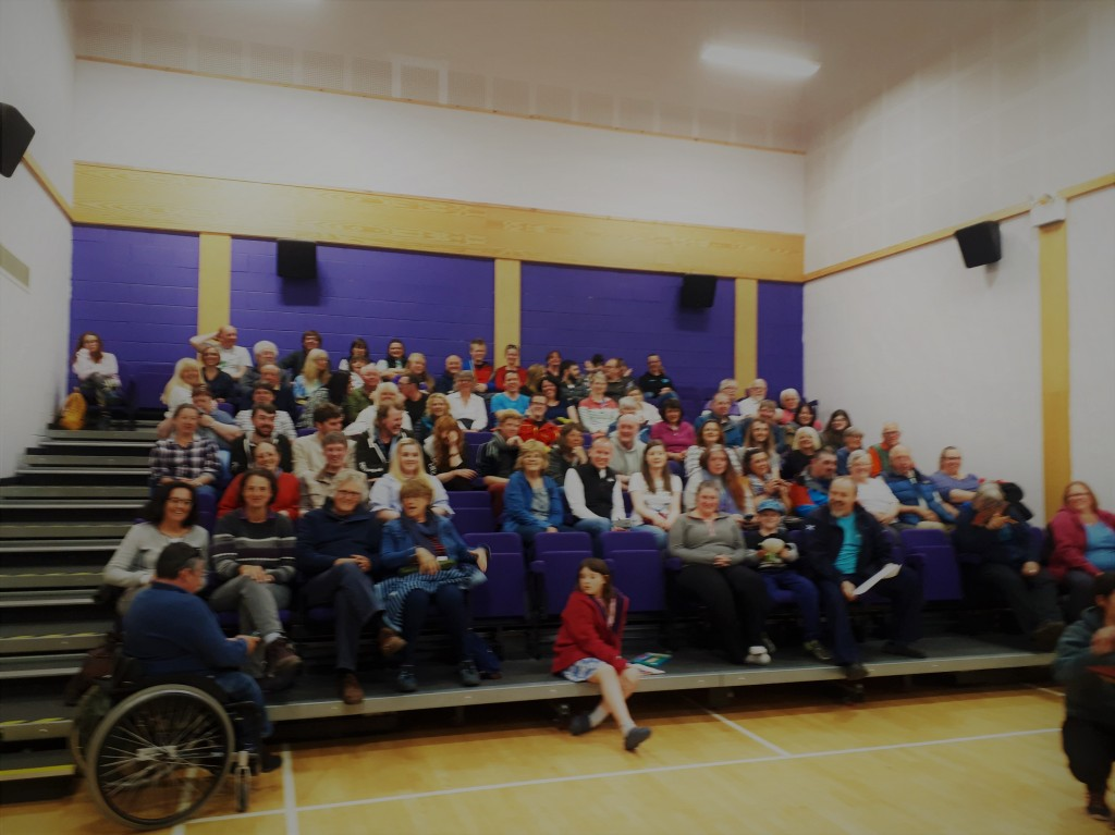 An evening of whale talks at the Pultney Peoples Centre in Wick during the Orca watch. Photo credits: Anna Jemmett / Sea Watch Foundation.