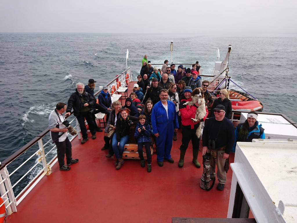 Orca Watchers on the John O'Groats ferry. Photo credit: Steve Truluck.