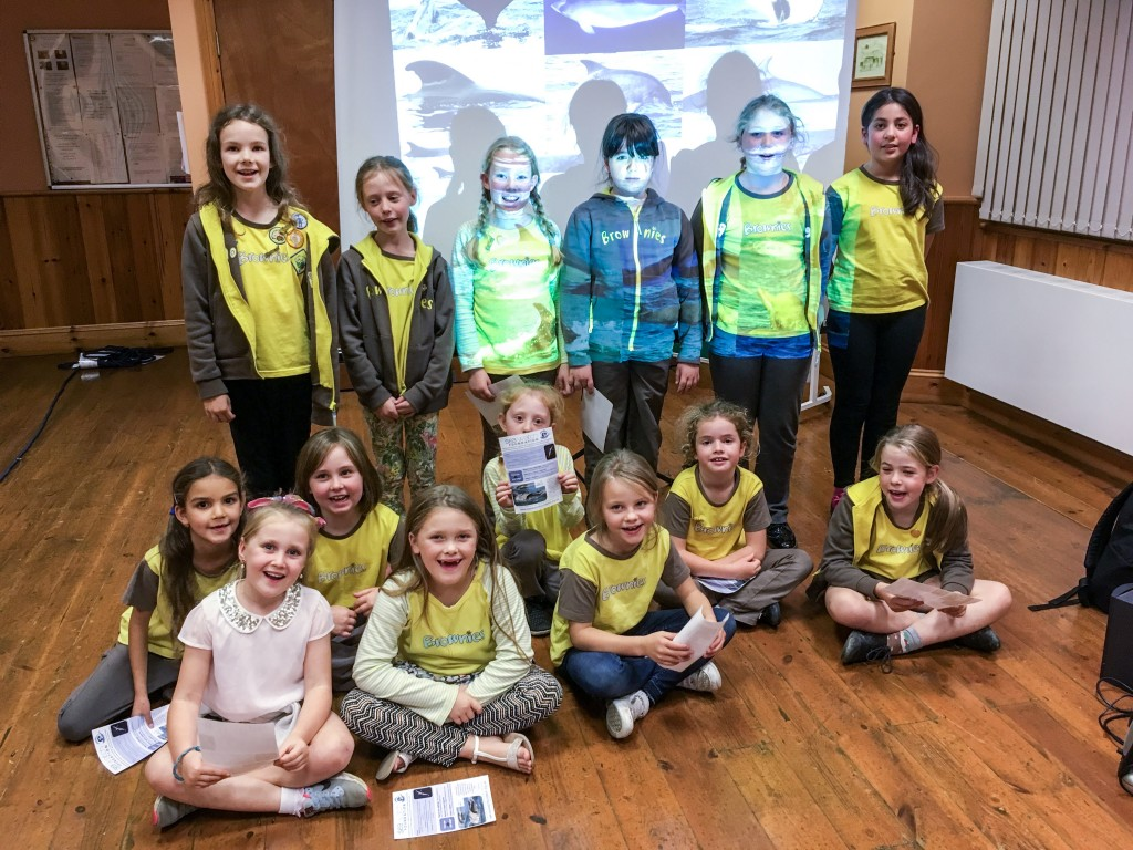 Newcastle Emlyn Brownies. Photo credit: Natasha Hunt/ Sea Watch Foundation