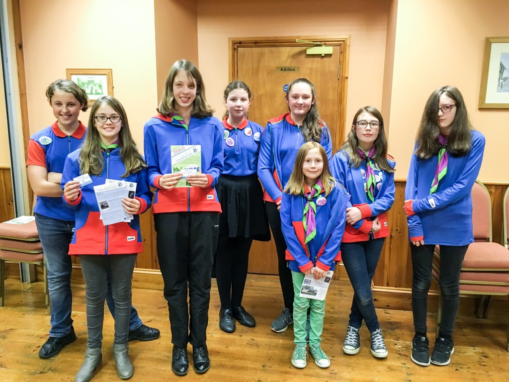 Newcastle Emlyn Guides. Photo credit:  Natasha Hunt/ Sea Watch Foundation