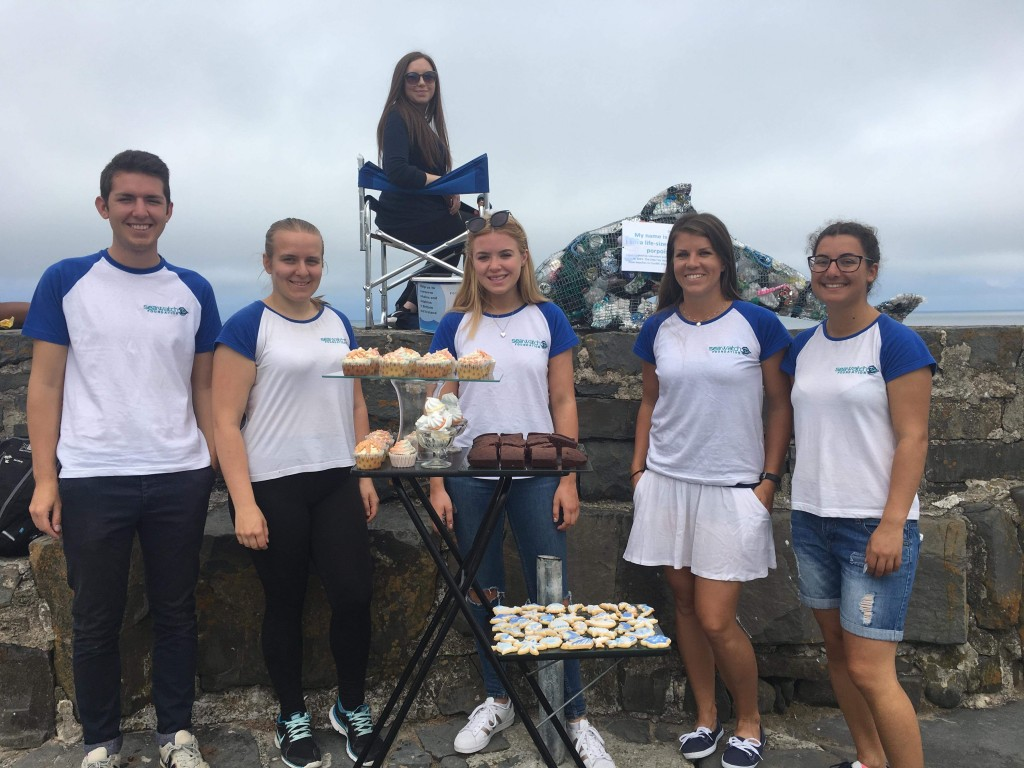 Sea Watch volunteers organizing fundraising events in New Quay. Photo credit: Sea Watch Foundation.